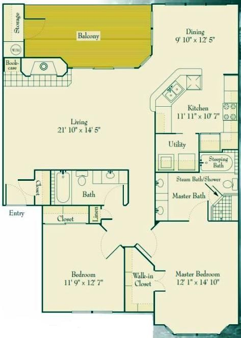 1,359 sq. ft. to 1,459 sq. ft. B3 floor plan