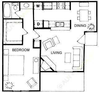 687 sq. ft. floor plan