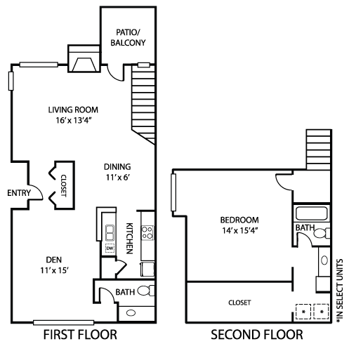 1,138 sq. ft. A4 floor plan