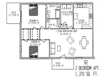 1,370 sq. ft. ABP floor plan