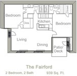 939 sq. ft. FARIFORD floor plan