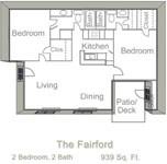 939 sq. ft. Fairford floor plan