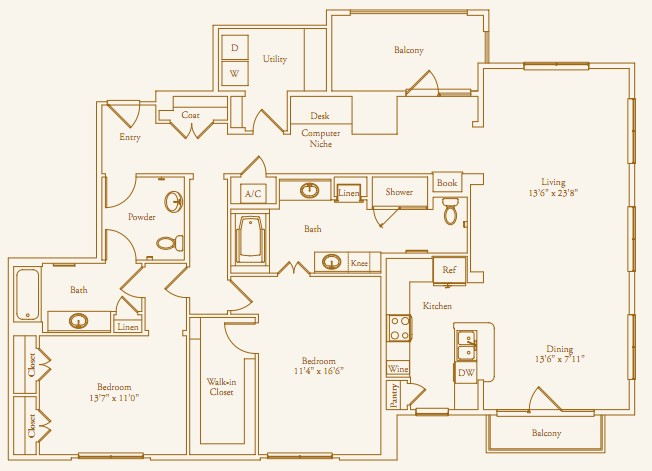 1,854 sq. ft. Lazy Lane floor plan