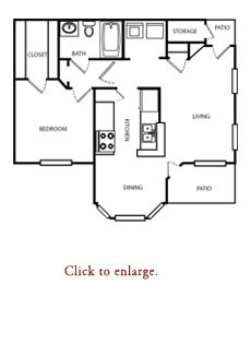 762 sq. ft. B floor plan