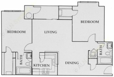 950 sq. ft. City Walk:B1 floor plan
