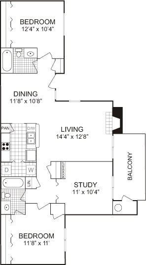1,089 sq. ft. floor plan