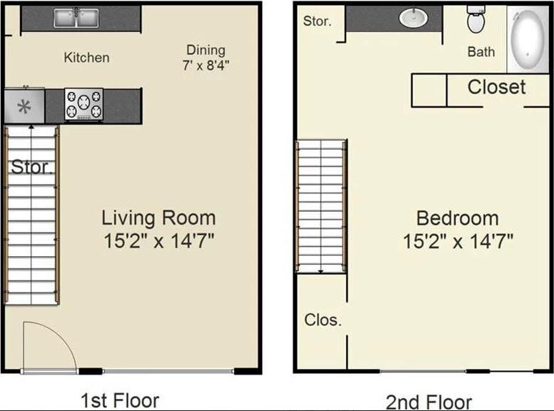 768 sq. ft. C floor plan