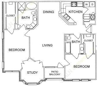 1,378 sq. ft. B3 floor plan
