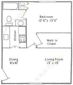 706 sq. ft. to 711 sq. ft. A1/B1 floor plan