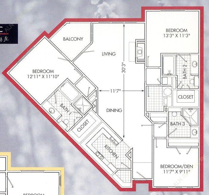 1,560 sq. ft. Lakeside C floor plan