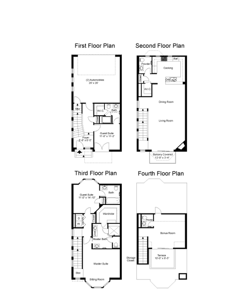 2,539 sq. ft. Augusta floor plan