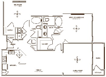 1,235 sq. ft. VICTORIA floor plan