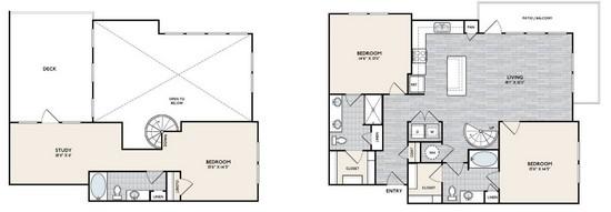 1,823 sq. ft. C2 floor plan