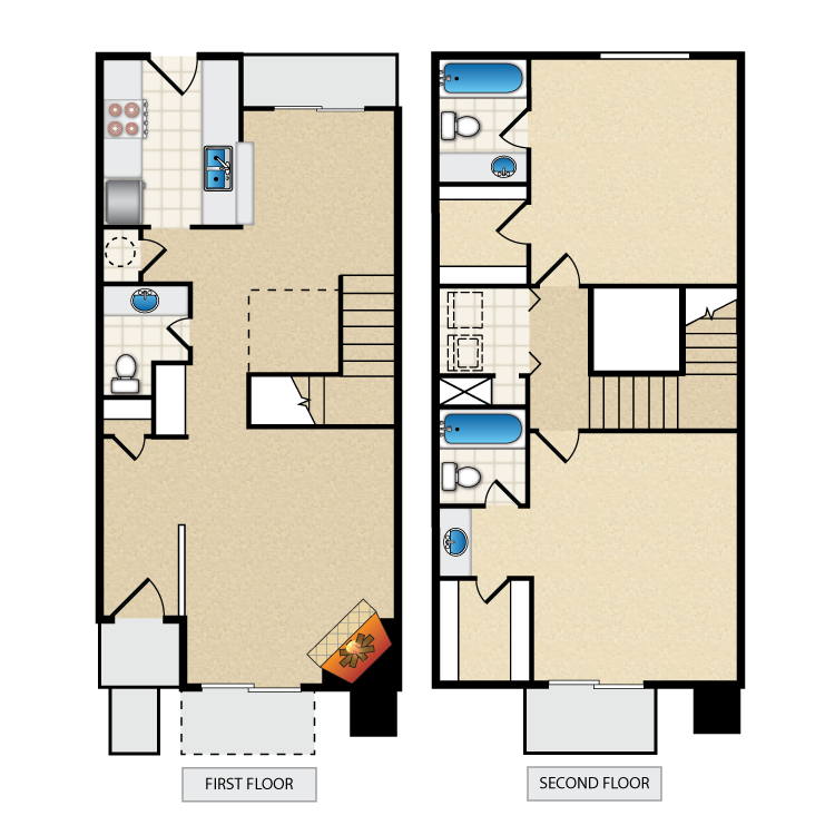 1,337 sq. ft. floor plan