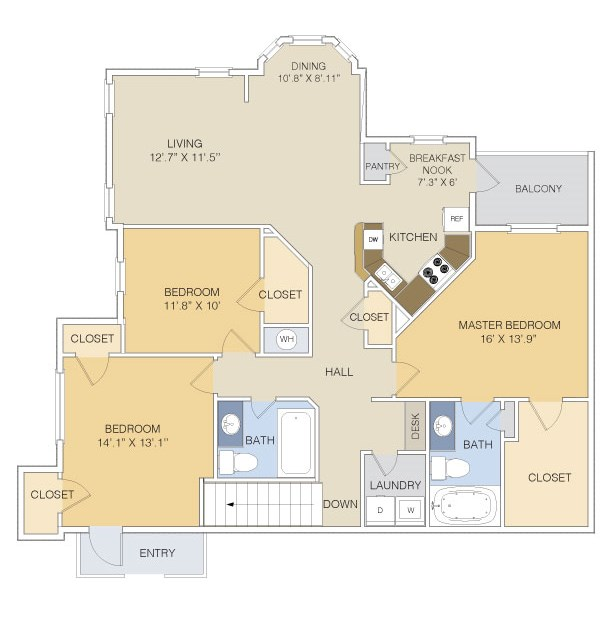 1,523 sq. ft. C1U/GAR floor plan