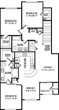 1,484 sq. ft. Avalon floor plan