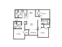 1,215 sq. ft. 60% floor plan