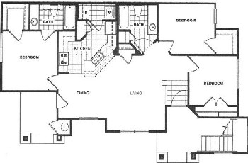 1,100 sq. ft. 60 floor plan
