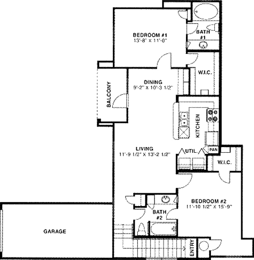 1,027 sq. ft. 50 floor plan