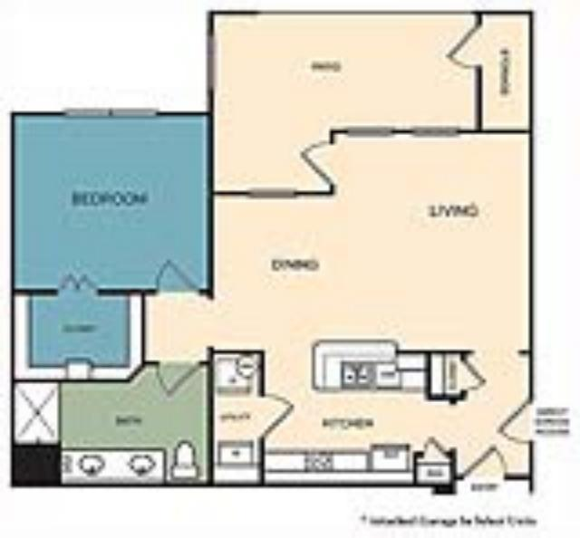 850 sq. ft. Castle Rock w/Gar floor plan