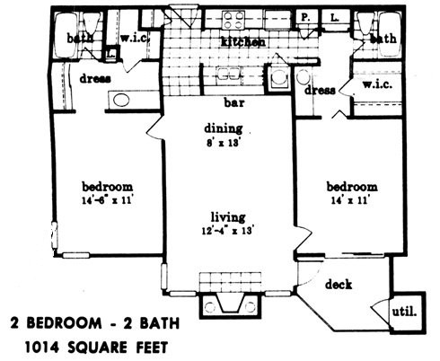1,014 sq. ft. floor plan