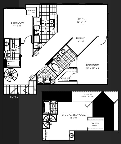 1,592 sq. ft. C5 floor plan
