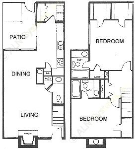 1,176 sq. ft. floor plan