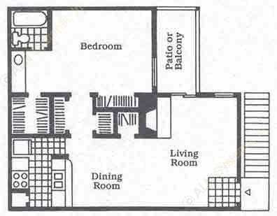 740 sq. ft. A4 floor plan
