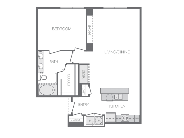 911 sq. ft. Ha floor plan