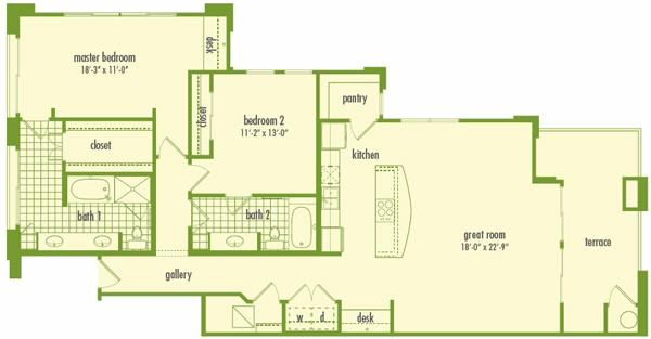 1,590 sq. ft. L2E floor plan