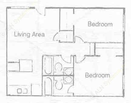 829 sq. ft. B-3 floor plan