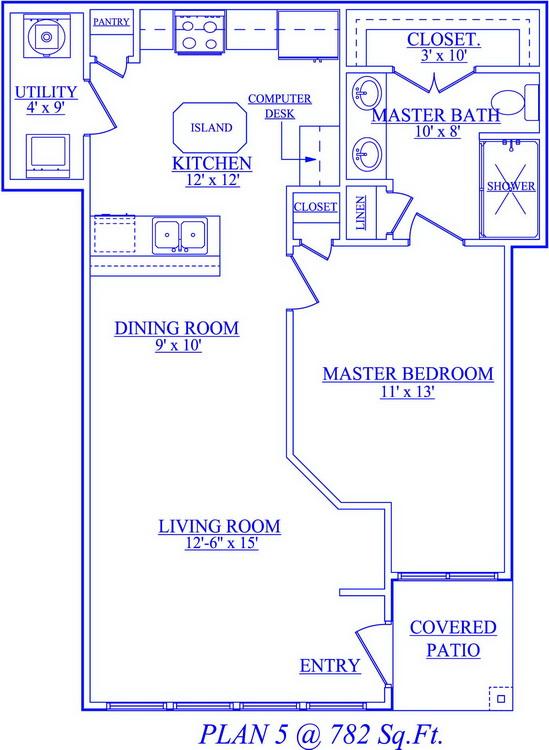 782 sq. ft. floor plan