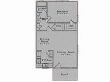 695 sq. ft. A2/80% floor plan