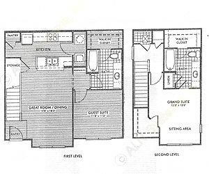 1,133 sq. ft. Redwood/50% floor plan