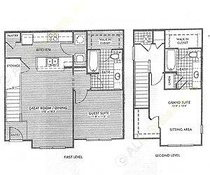 1,133 sq. ft. Redwood/50% floor plan