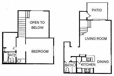 827 sq. ft. AL02 floor plan