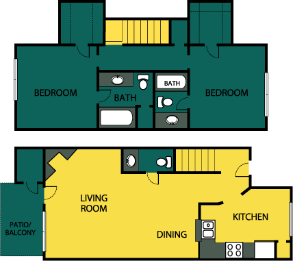 1,089 sq. ft. Extravagant floor plan