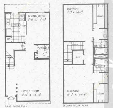 1,262 sq. ft. S1A floor plan