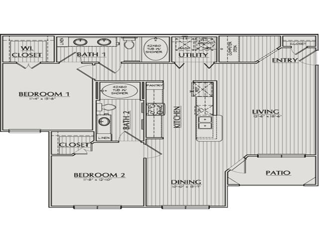 1,195 sq. ft. Taylor floor plan