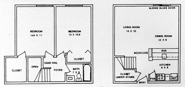 974 sq. ft. ABP floor plan