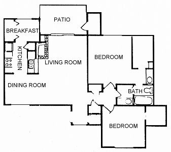 996 sq. ft. B12 floor plan