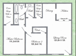 861 sq. ft. floor plan