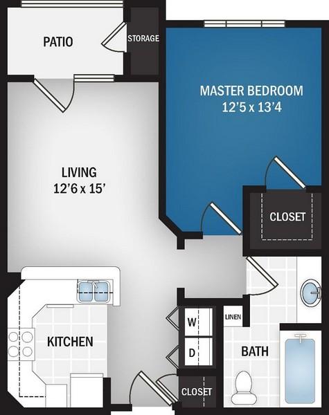 731 sq. ft. Neptune floor plan