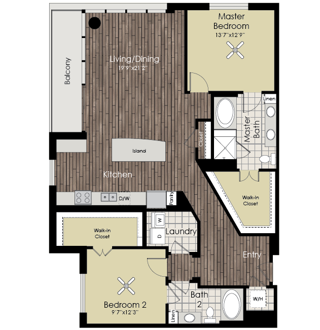 1,571 sq. ft. B9 floor plan