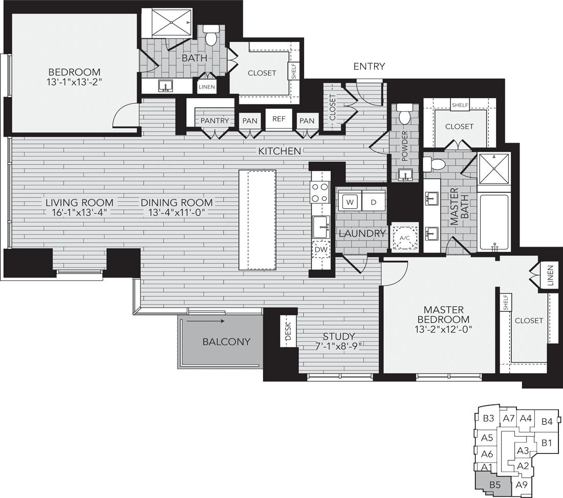 1,898 sq. ft. B5 floor plan