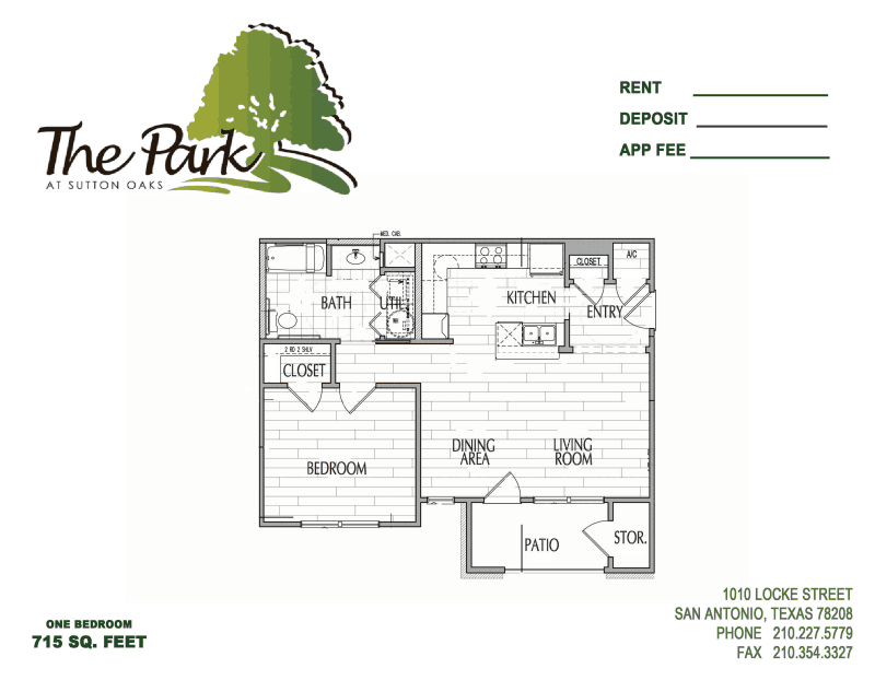 750 sq. ft. 50% floor plan