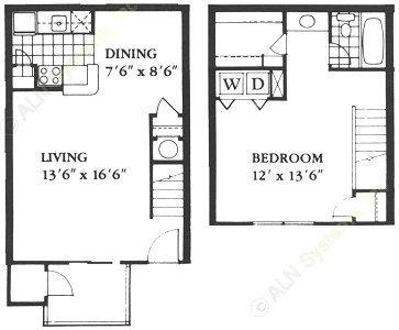 813 sq. ft. B floor plan