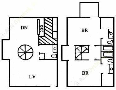 1,252 sq. ft. M floor plan