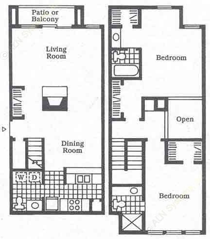 1,416 sq. ft. B3 floor plan