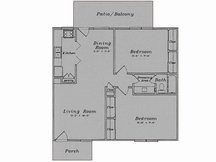 988 sq. ft. B2/80% floor plan